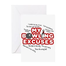 MY BOWLING EXCUSES Greeting Cards
