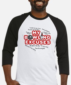 MY BOWLING EXCUSES Baseball Jersey