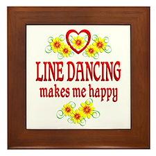 Line Dancing Happiness Framed Tile