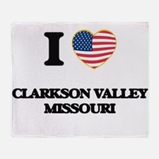 I love Clarkson Valley Missouri Throw Blanket