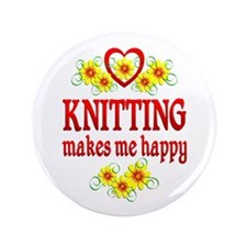 Knitting Happiness Button