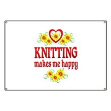 Knitting Happiness Banner