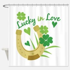 Lucky In Love Shower Curtain