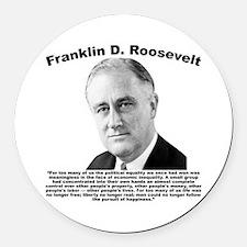 FDR: Powerless Round Car Magnet