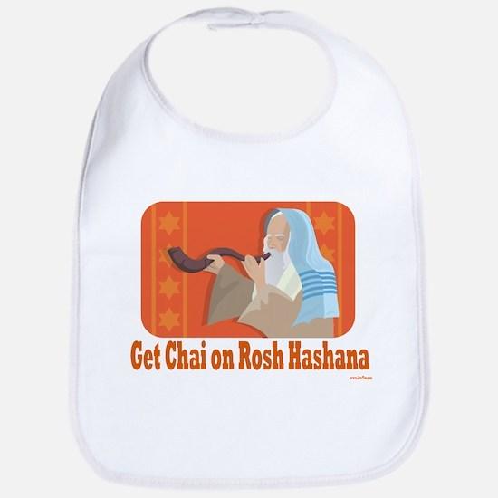 Get Chai On Rosh Hashanah Bib