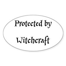 Protected By...(Pagan/Wiccan Sticker Oval)
