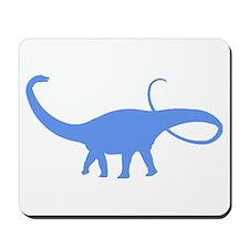 Apatosaurus Silhouette (Blue) Mousepad