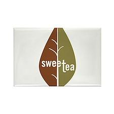 Cute Tea leaves Rectangle Magnet