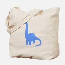 Brontosaurus Silhouette (Blue) Tote Bag