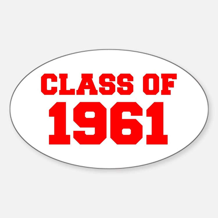 CLASS OF 1961-Fre red 300 Decal