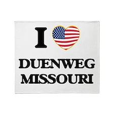 I love Duenweg Missouri Throw Blanket