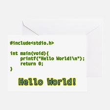 Hello World Greeting Card