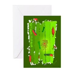 Absinthe Surfing Greeting Cards (Pk of 20)