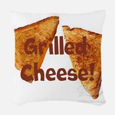 Grilled cheese Woven Throw Pillow