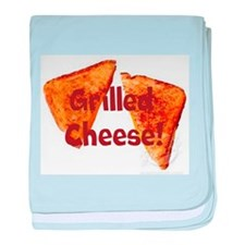 Grilled cheese baby blanket