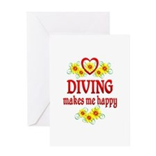 Diving Happiness Greeting Card