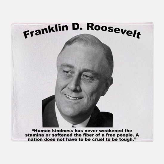 FDR: Kindness Throw Blanket