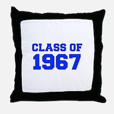 CLASS OF 1967-Fre blue 300 Throw Pillow
