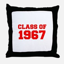 CLASS OF 1967-Fre red 300 Throw Pillow