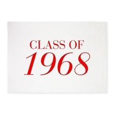 CLASS OF 1968-Bau red 501 5'x7'Area Rug