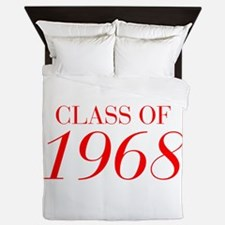 CLASS OF 1968-Bau red 501 Queen Duvet