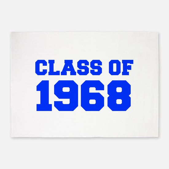 CLASS OF 1968-Fre blue 300 5'x7'Area Rug