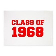 CLASS OF 1968-Fre red 300 5'x7'Area Rug