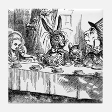 Alice in Wonderland Tea party Tile Coaster