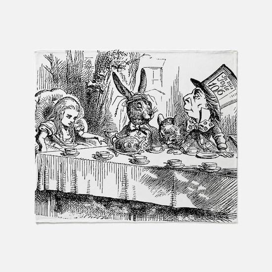 Alice in Wonderland Tea party Throw Blanket
