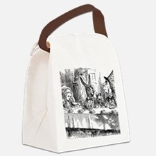 Alice in Wonderland Tea party Canvas Lunch Bag