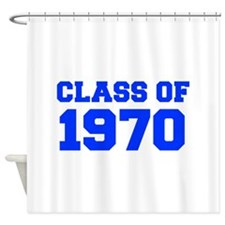 CLASS OF 1970-Fre blue 300 Shower Curtain