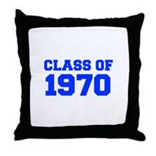 CLASS OF 1970-Fre blue 300 Throw Pillow