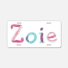 Zoie Princess Balloons Aluminum License Plate