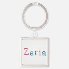 Zaria Princess Balloons Square Keychain