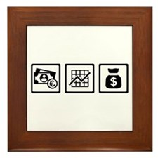 Banker finance logos Framed Tile
