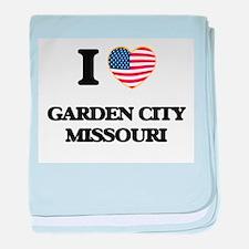 I love Garden City Missouri baby blanket