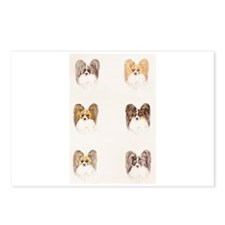 Papillon headstudies Postcards (Package of 8)