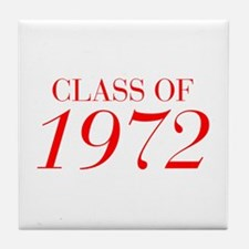 CLASS OF 1972-Bau red 501 Tile Coaster