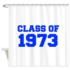 CLASS OF 1973-Fre blue 300 Shower Curtain