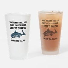 Sharks Will Kill You Drinking Glass