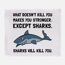 Sharks Will Kill You Throw Blanket