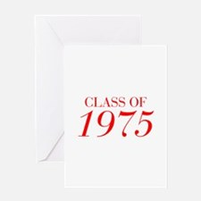 CLASS OF 1975-Bau red 501 Greeting Cards