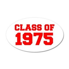 CLASS OF 1975-Fre red 300 Wall Decal