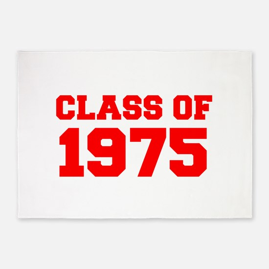 CLASS OF 1975-Fre red 300 5'x7'Area Rug