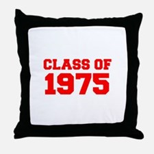 CLASS OF 1975-Fre red 300 Throw Pillow