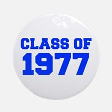 CLASS OF 1977-Fre blue 300 Ornament (Round)