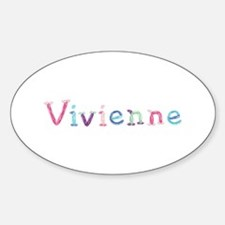 Vivienne Princess Balloons Oval Decal