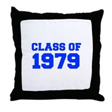 CLASS OF 1979-Fre blue 300 Throw Pillow