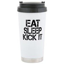 Eat Sleep Kick It Travel Mug
