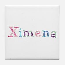 Ximena Princess Balloons Tile Coaster